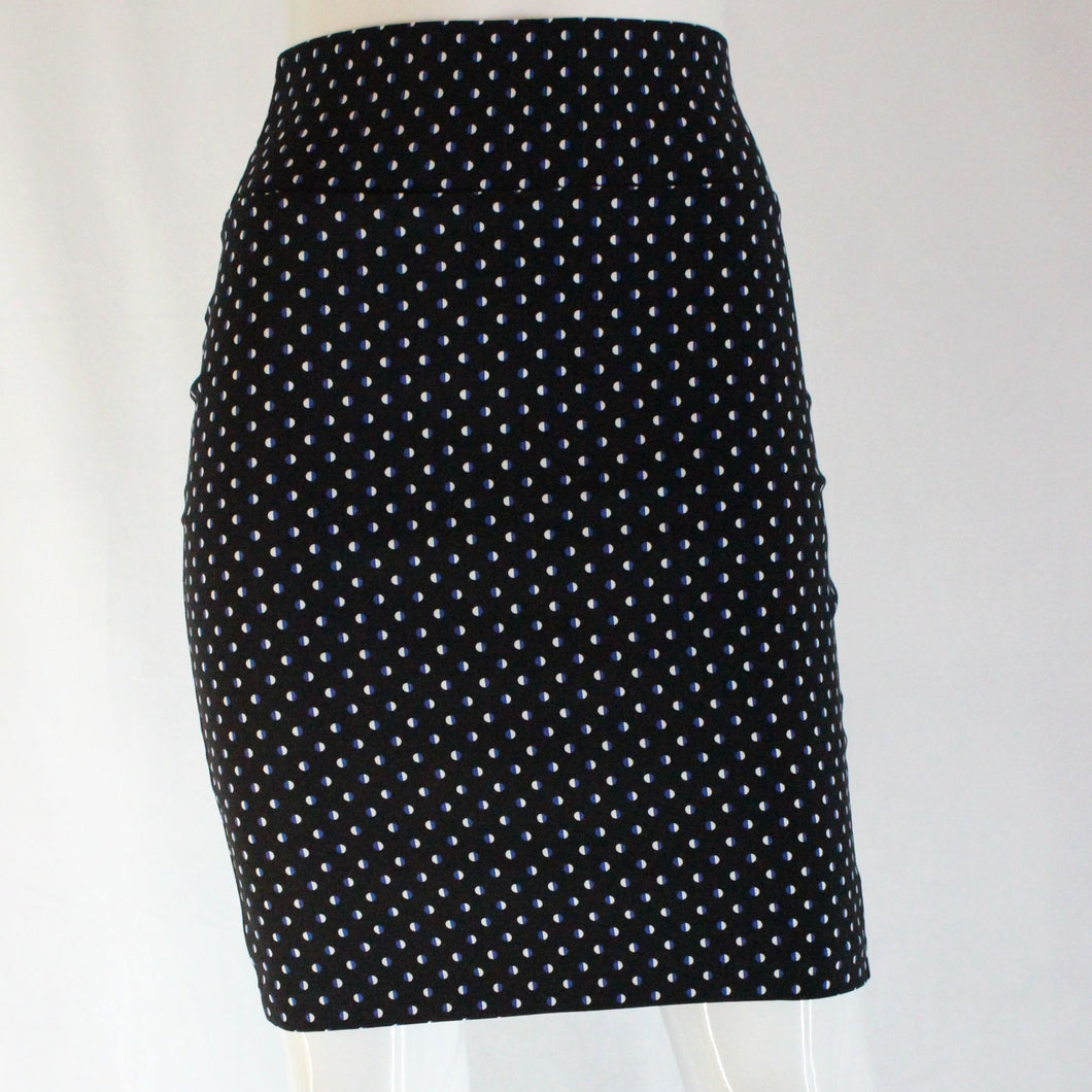 Polka Dot Woven Knee-Length Skirt