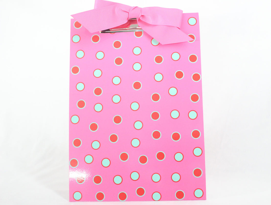 Monogram Clipboard - Polka Dot & Ribbon Bow