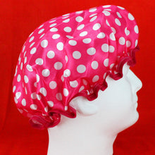 Load image into Gallery viewer, Shower Cap - Polka Dot Fabric