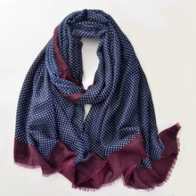 Load image into Gallery viewer, Men Polka Dot Scarf - Navy