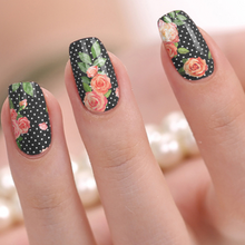 Load image into Gallery viewer, polka dot and rose nail stickers