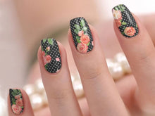 Load image into Gallery viewer, Rose Nail Wrap Stickers - Polka Dot