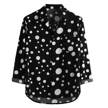 Load image into Gallery viewer, black polka dot shirt