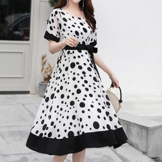polka dot market vintage dress