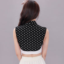 Load image into Gallery viewer, Adjustable Polka Dot Fake Collar