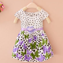 Load image into Gallery viewer, polka dot market girl dress