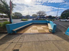 parklet with bench seat