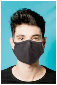 3-Ply Black Cotton Mask | 24 pack