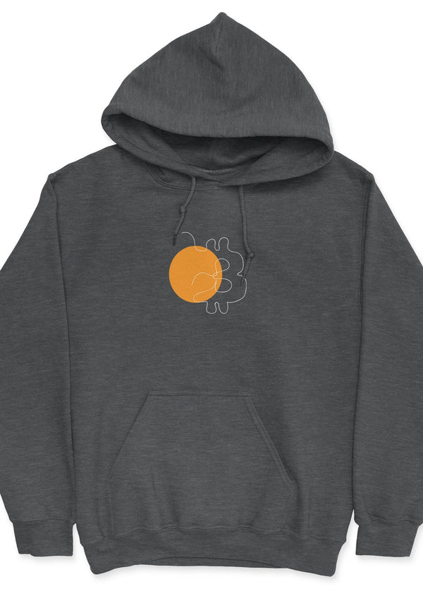 Bitcoin 1-Liners - unisex hoodie Dark Heather | gifts for blockchain and crypto fans