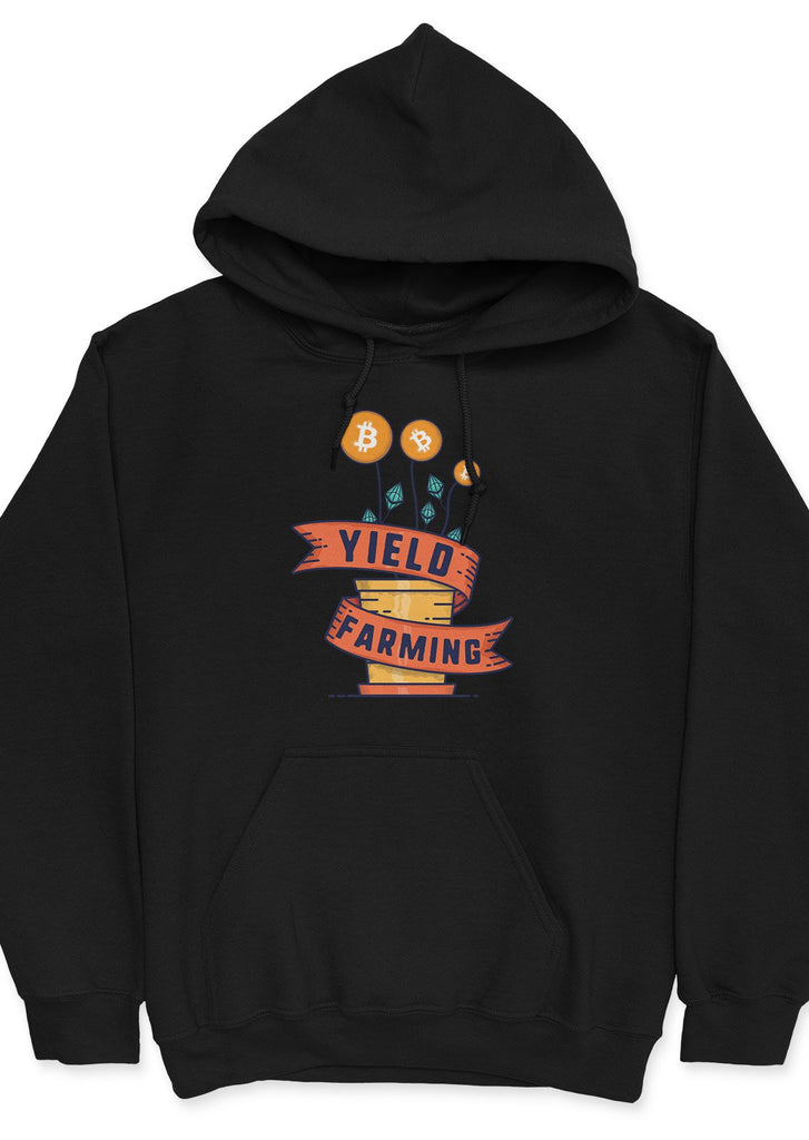 BTC & ETH Yield Farming - unisex hoodie Black | gifts for blockchain and crypto fans