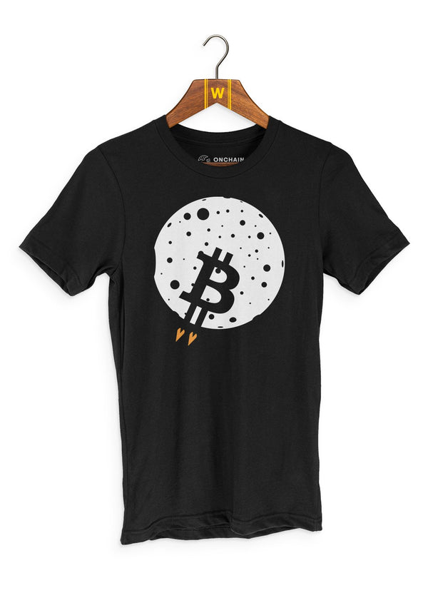 BTC Moon - women's t-shirt Black | gifts for blockchain and crypto fans
