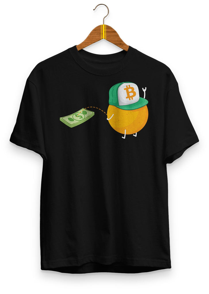BTC ownz $ - premium unisex t-shirt Black | gifts for blockchain and crypto fans