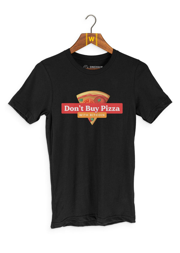 Don't buy pizza - women's t-shirt Black | gifts for blockchain and crypto fans