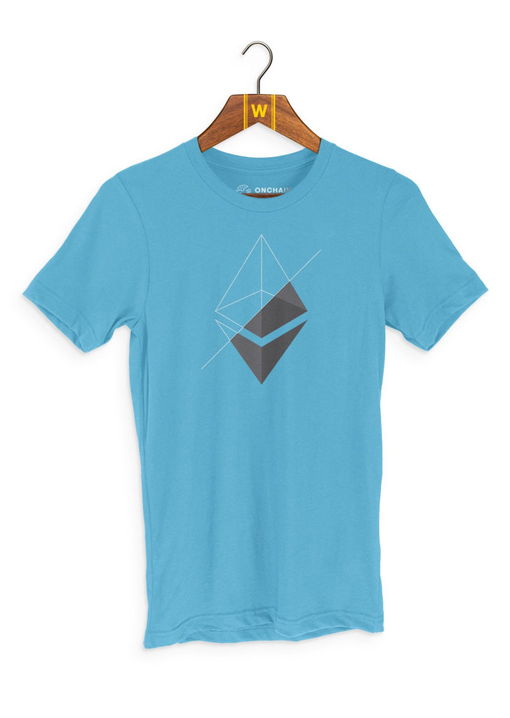 ETH Transparency - women's t-shirt Caribbean Blue | gifts for blockchain and crypto fans