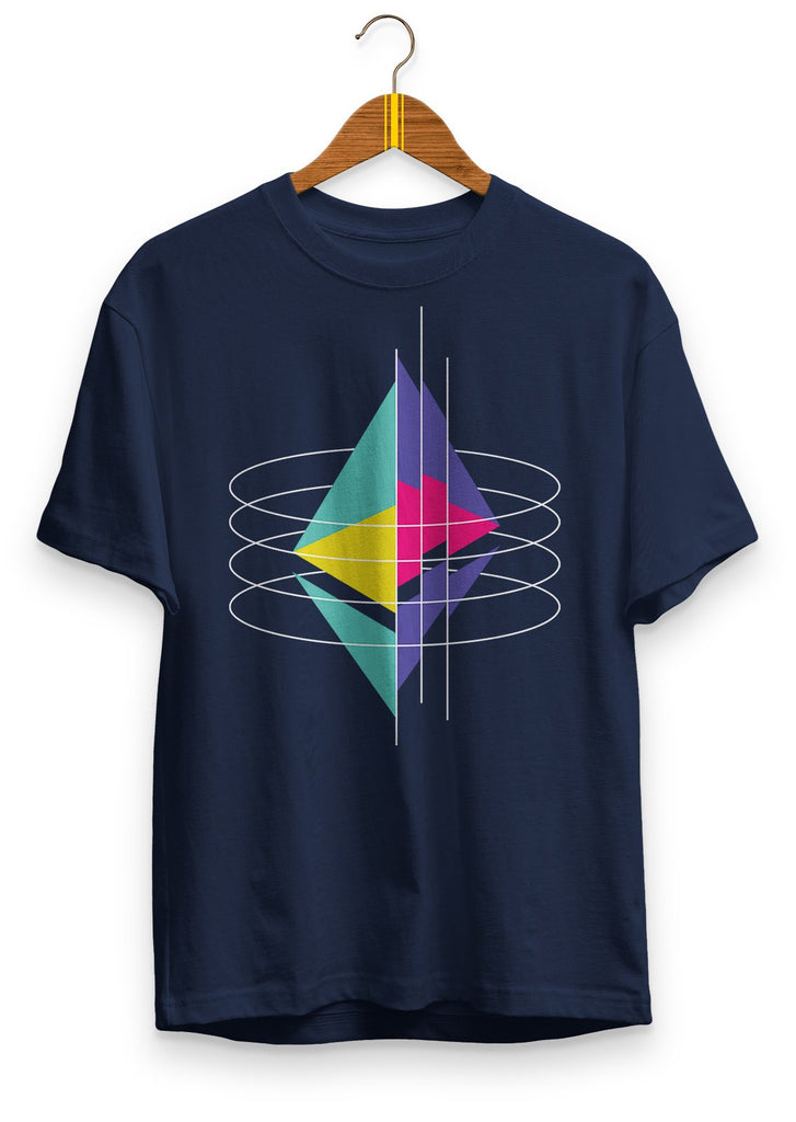 Ethereum Virtual Machine - premium unisex t-shirt Navy | gifts for blockchain and crypto fans