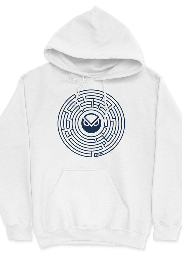 Gnosis Maze - unisex hoodie White | gifts for blockchain and crypto fans
