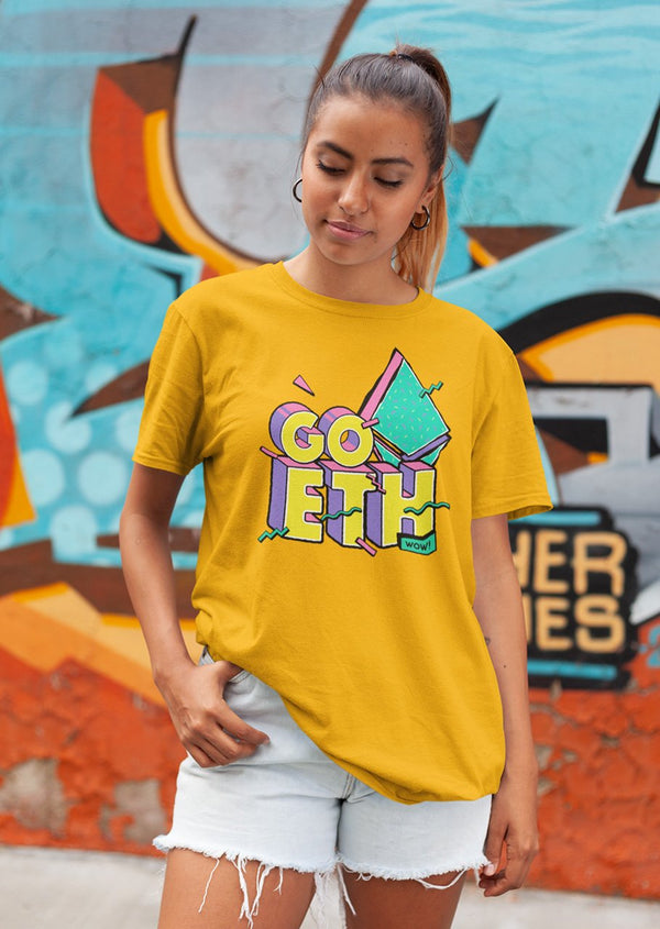 Go Ethereum! - premium unisex t-shirt | gifts for blockchain and crypto fans
