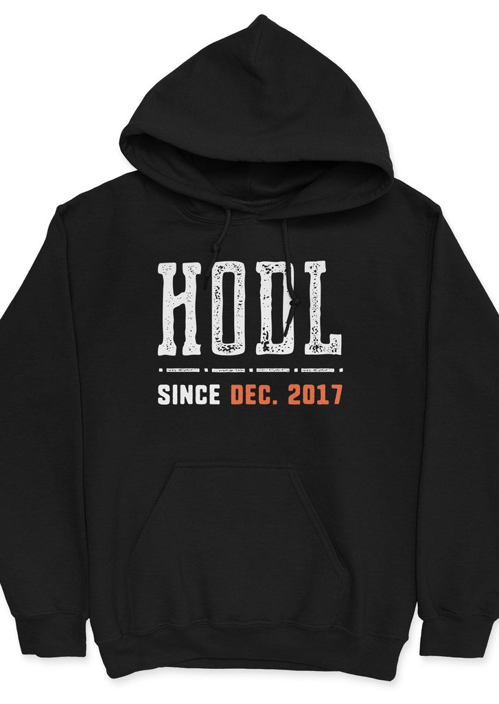 HODL since 2017 - unisex hoodie Black | gifts for blockchain and crypto fans