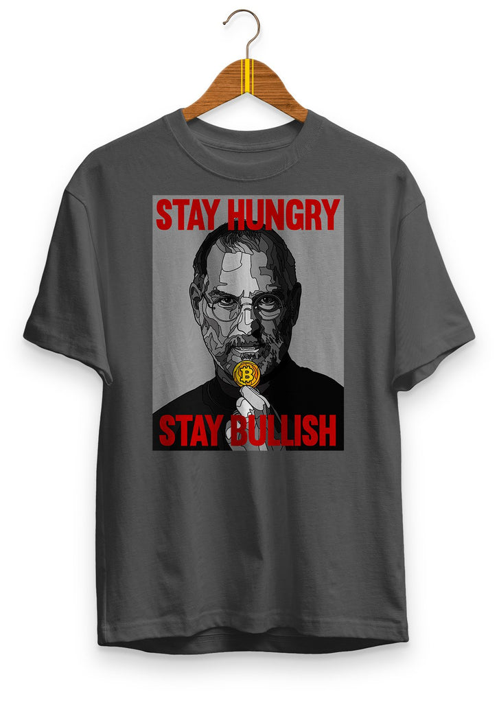 Stay hungry, stay bullish - premium unisex t-shirt Asphalt | gifts for blockchain and crypto fans