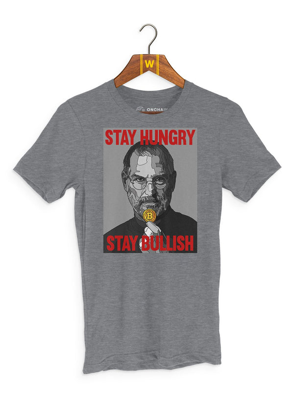 Stay hungry, stay bullish - women's t-shirt Heather Grey | gifts for blockchain and crypto fans