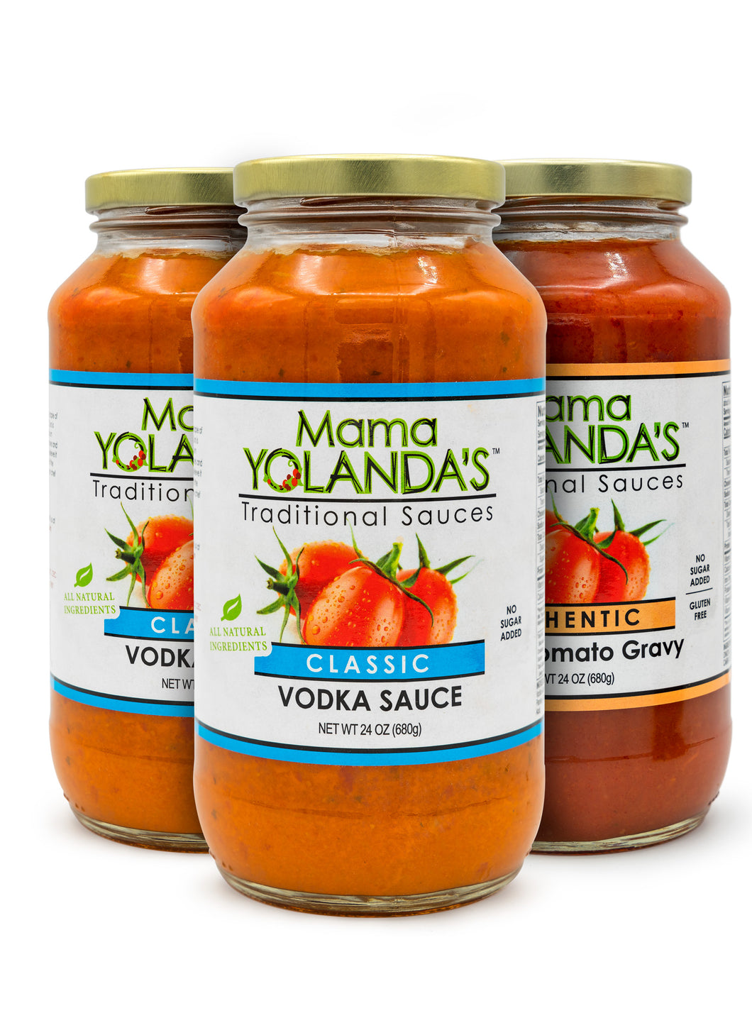 Special Pack: Two jars of Classic Vodka Sauce and One jar of Authentic Italian Tomato Gravy