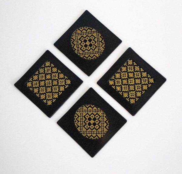 Gold Tatreez Coasters