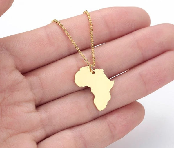 Africa Continent Necklace