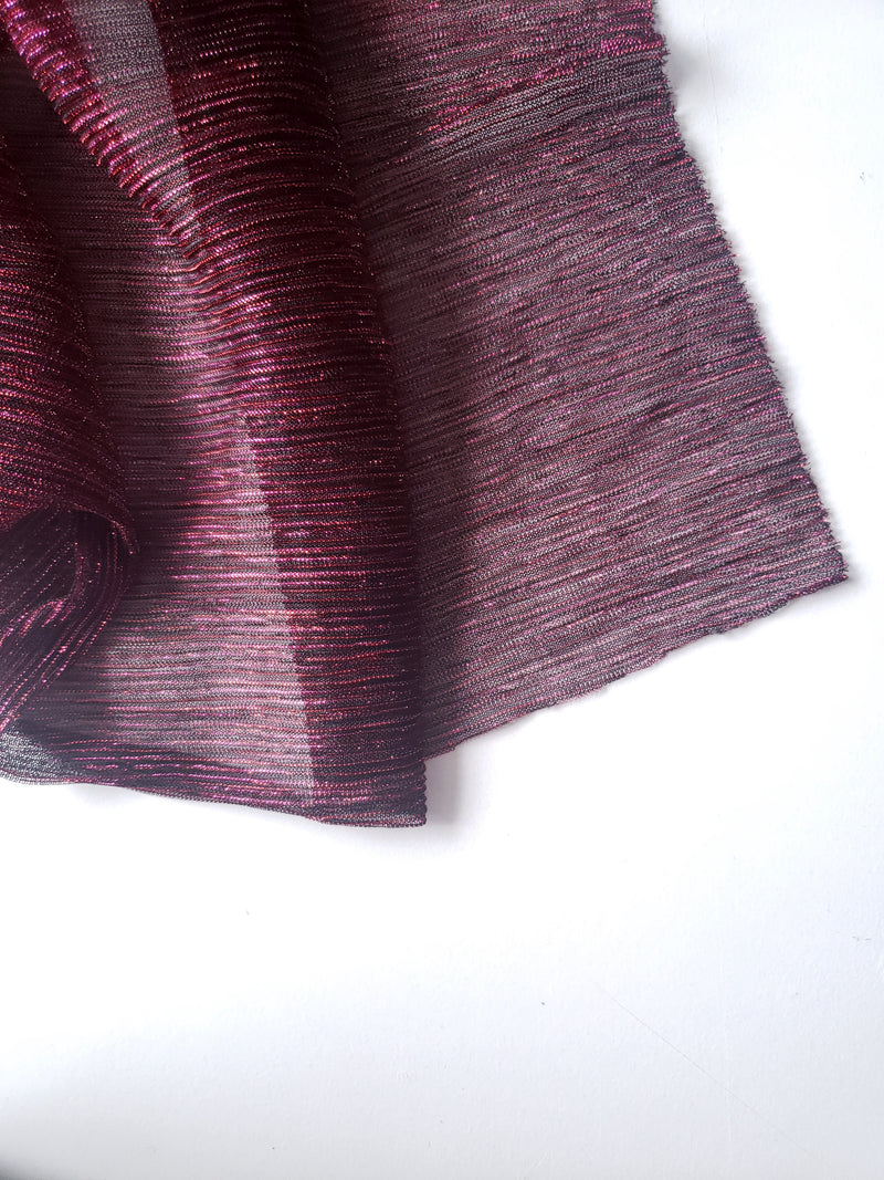 Burgandy Shimmer Pleated Hijab