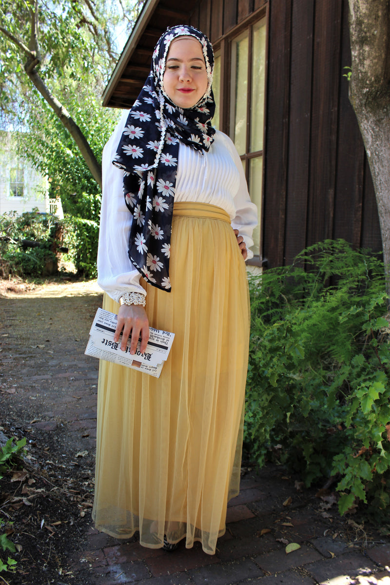 Boutique Yellow Tulle Skirt