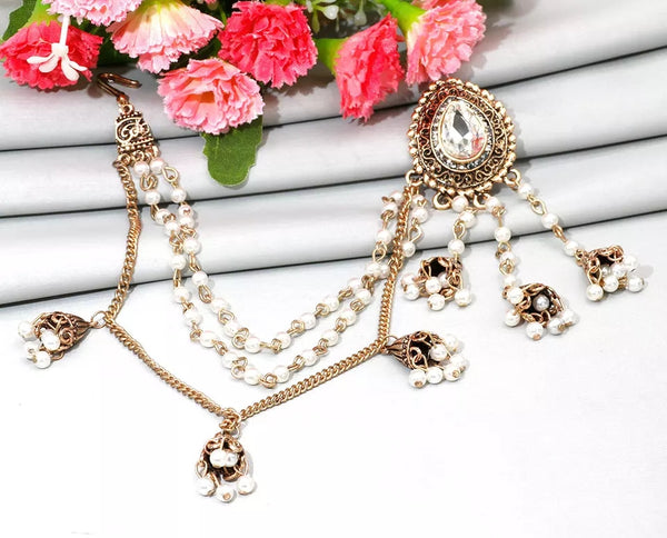 Pakistani Earring and Hair Chain