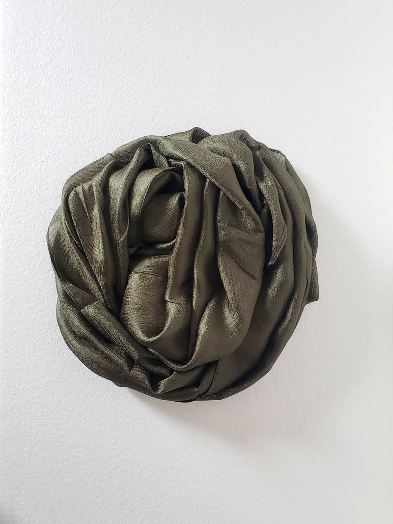 Forest Green Textured Silk Hijab