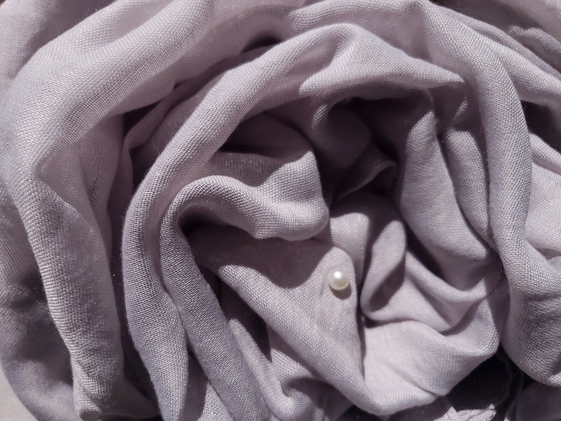 Light Gray Pearl Viscose Hijab