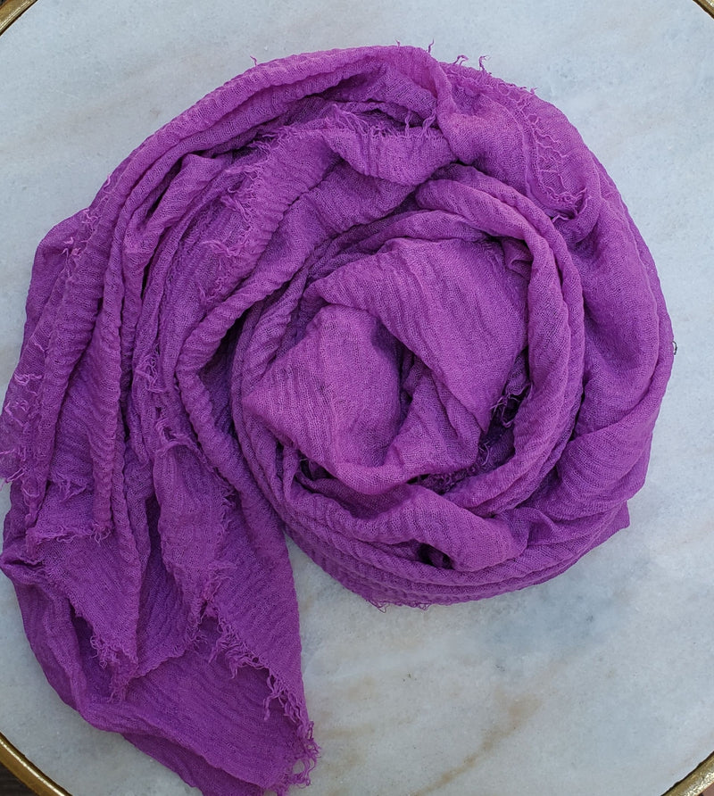 Cotton Crinkle Hijabs (15 colors)