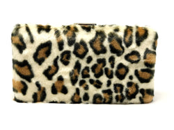 Rectangle Faux Leopard Fur