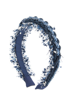 All Roped In Headband - Navy/Blue