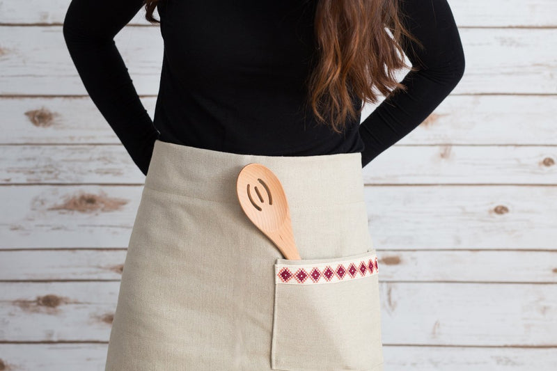 Kitchen Holiday Gift Box - Cream Apron