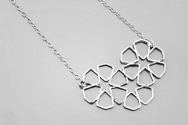 3-Flower Tessellation Necklace