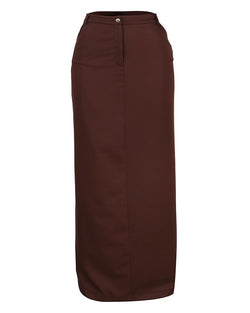 Straight Brown Maxi Skirt