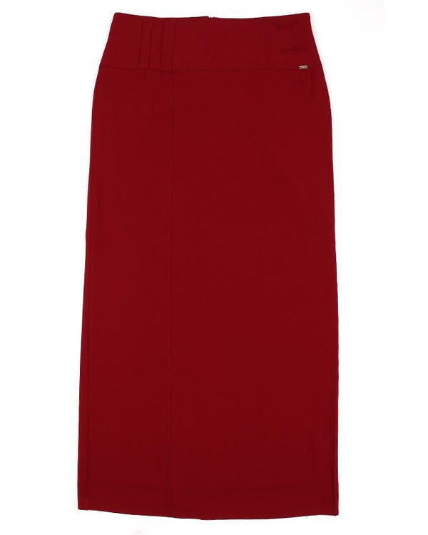 Burgundy Straight Skirt