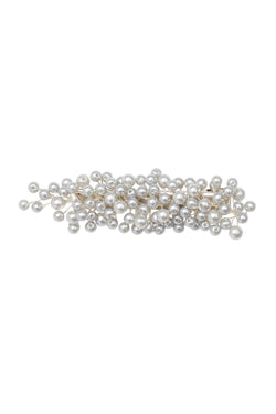 Baby's Breath Royal Clip - Silver Pearl
