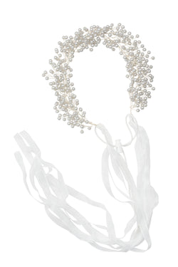 Clustered Wreath - Silver Pearl