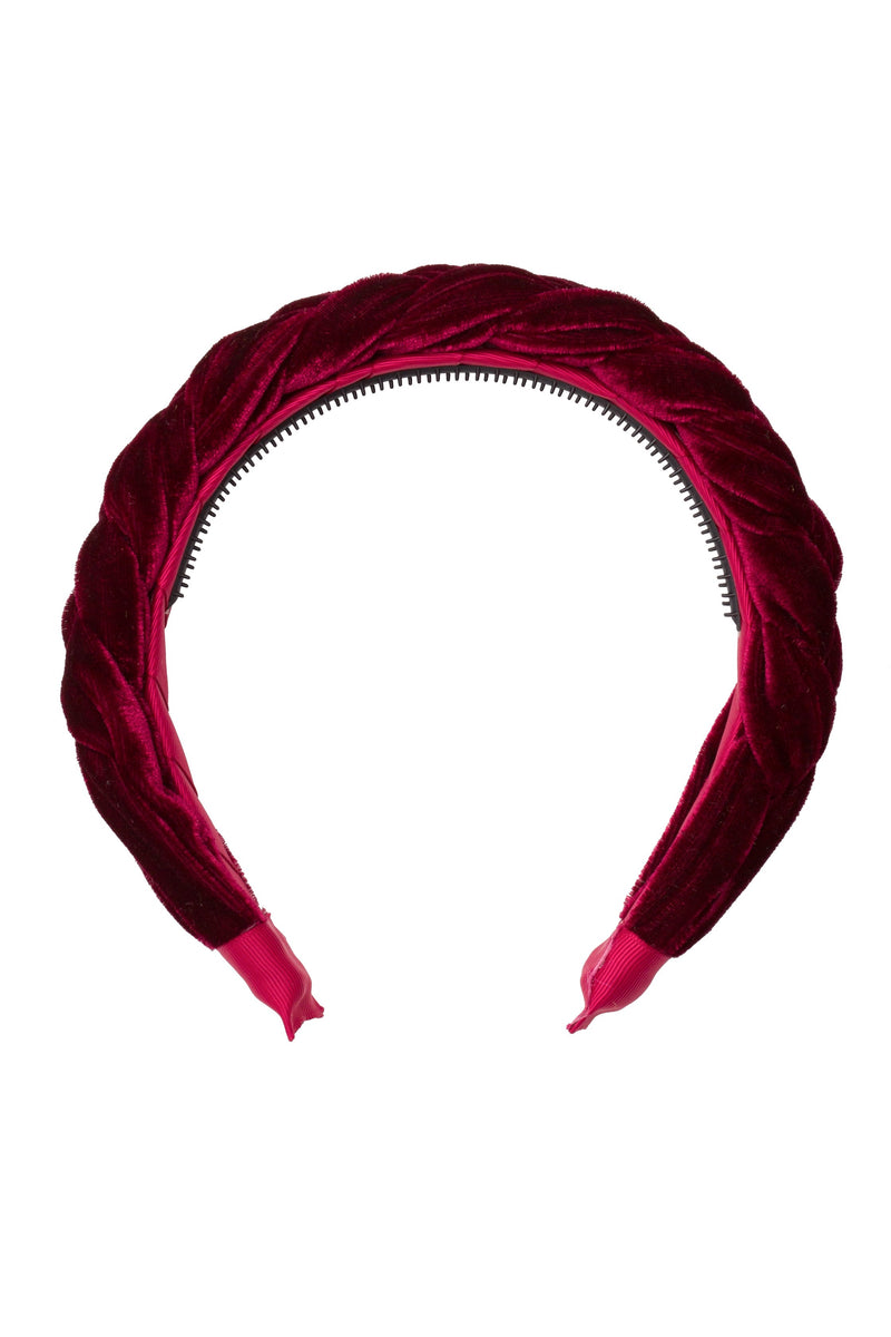 Coronation Day Headband - Burgundy Velvet