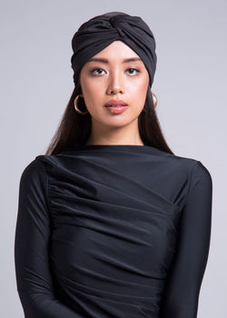 Black Swim- Workout Turban