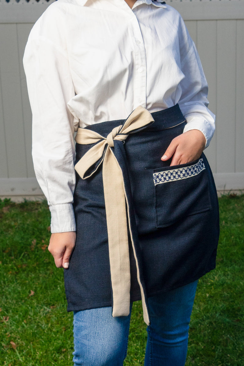 Presale: Kuffiyeh Apron in Blue