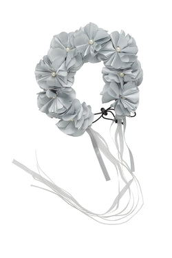 Floral Wreath Full - Light Silver