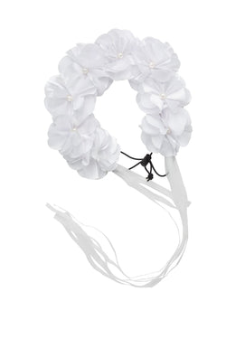 Floral Wreath Full - White
