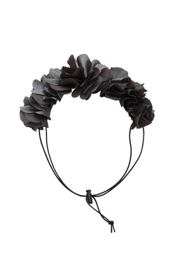 Floral Wreath Petit - Charcoal