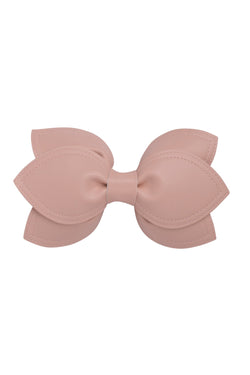 Growing Orchid Clip/Bowtie - Blush Leather