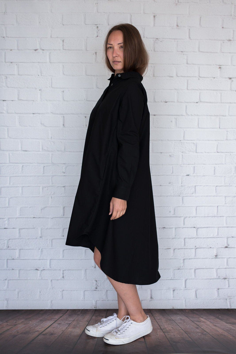 Maaya Short Length - Black Poplin