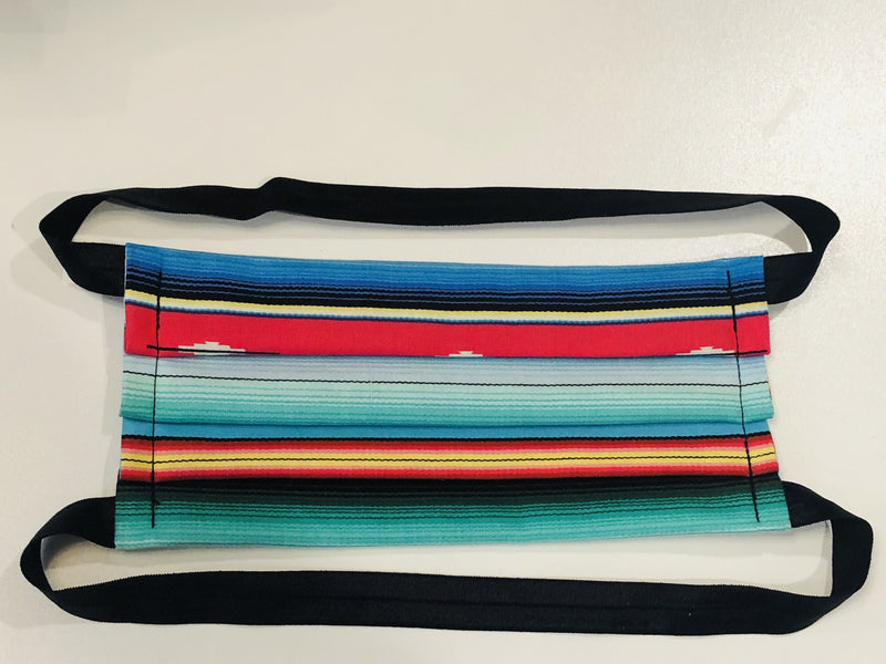"Hijabi Friendly Face Mask - Serape ""Viva Mexico"""